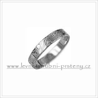 Snubní prsteny LSP 1346b bílé zlato