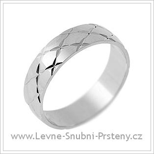 Snubní prsteny LSP 1347 - bílé zlato