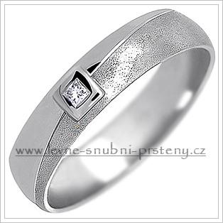 Snubní prsteny LSP 1351b bílé zlato