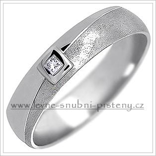 Snubní prsteny LSP 1351bz bílé zlato