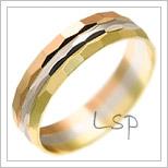 Snubní prsteny LSP 1352 kombinované zlato