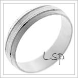 Snubní prsteny LSP 1353 bílé zlato