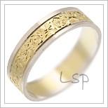 Snubní prsteny LSP 1355 kombinované zlato