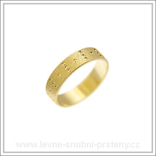 Snubní prsteny LSP 1359 žluté zlato
