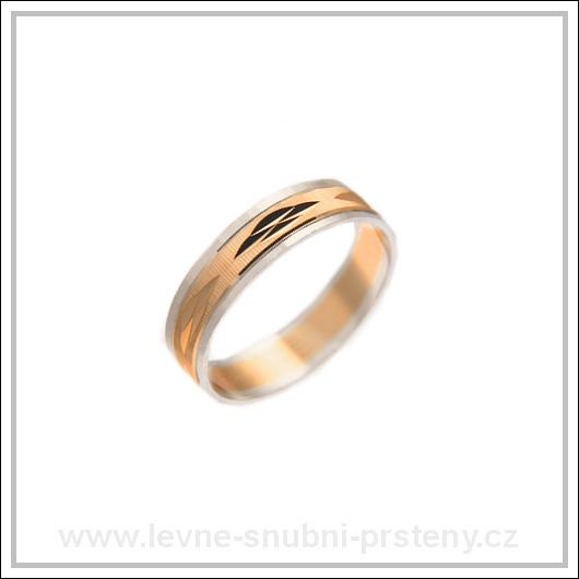Snubní prsteny LSP 1361 kombinované zlato