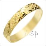 Snubní prsteny LSP 1363 žluté zlato