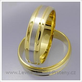 Snubní prsteny LSP 1364 kombinované zlato