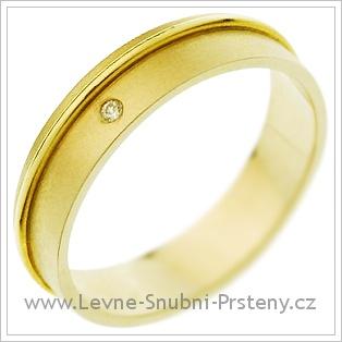 Snubní prsteny LSP 1367 žluté zlato