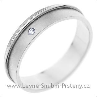 Snubní prsteny LSP 1369 bílé zlato