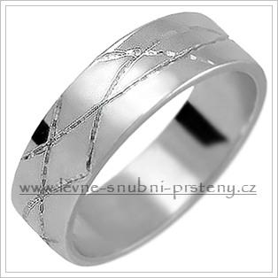 Snubní prsteny LSP 1370b bílé zlato