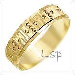 Snubní prsteny LSP 1371 žluté zlato
