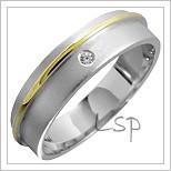 Snubní prsteny LSP 1372 kombinované zlato
