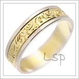 Snubní prsteny LSP 1374 kombinované zlato