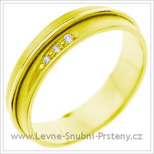 Snubní prsteny LSP 1378 žluté zlato
