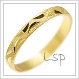 Snubní prsteny LSP 1379 žluté zlato