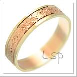 Snubní prsteny LSP 1381 kombinované zlato