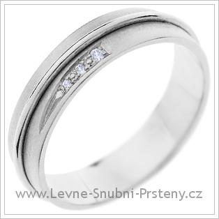 Snubní prsteny LSP 1382 bílé zlato