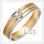 Snubní prsteny LSP 1384 kombinované zlato
