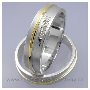 Snubní prsteny LSP 1387 kombinované zlato