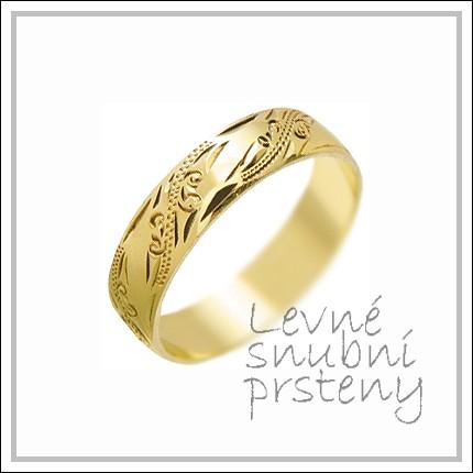 Snubní prsteny LSP 1390 žluté zlato