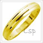 Snubní prsteny LSP 1393 žluté zlato
