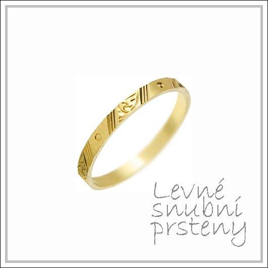 Snubní prsteny LSP 1394 žluté zlato
