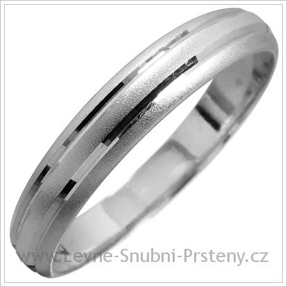 Snubní prsteny LSP 1395 bílé zlato