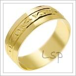 Snubní prsteny LSP 1397 žluté zlato