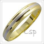 Snubní prsteny LSP 1401 kombinované zlato