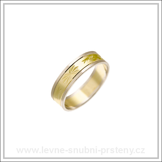 Snubní prsteny LSP 1403 kombinované zlato