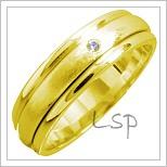 Snubní prsteny LSP 1405 žluté zlato