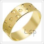 Snubní prsteny LSP 1407 žluté zlato