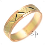 Snubní prsteny LSP 1411 kombinované zlato