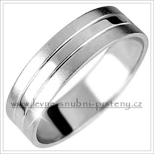 Snubní prsteny LSP 1412b bílé zlato