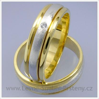 Snubní prsteny LSP 1413 kombinované zlato
