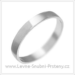 Snubní prsteny LSP 1414 bílé zlato