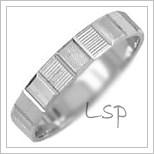 Snubní prsteny LSP 1416b bílé zlato