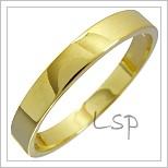 Snubní prsteny LSP 1417 žluté zlato