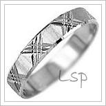 Snubní prsteny LSP 1422b bílé zlato