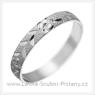 Snubní prsteny LSP 1423 bílé zlato