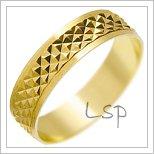Snubní prsteny LSP 1424 žluté zlato