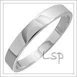 Snubní prsteny LSP 1425 bílé zlato