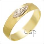 Snubní prsteny LSP 1426 žluté zlato