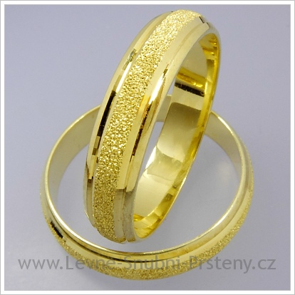 Snubní prsteny LSP 1428 žluté zlato