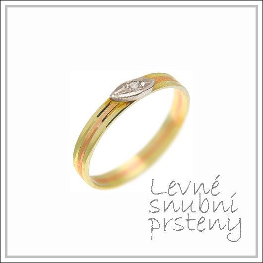 Snubní prsteny LSP 1431 kombinované zlato