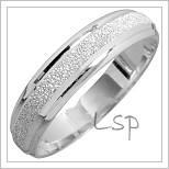 Snubní prsteny LSP 1433 bílé zlato
