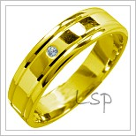 Snubní prsteny LSP 1435 žluté zlato