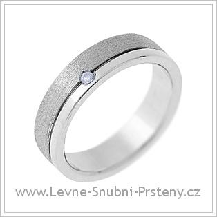 Snubní prsteny LSP 1436 - bílé zlato