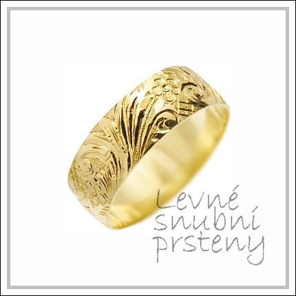 Snubní prsteny LSP 1437 žluté zlato