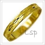 Snubní prsteny LSP 1438 žluté zlato